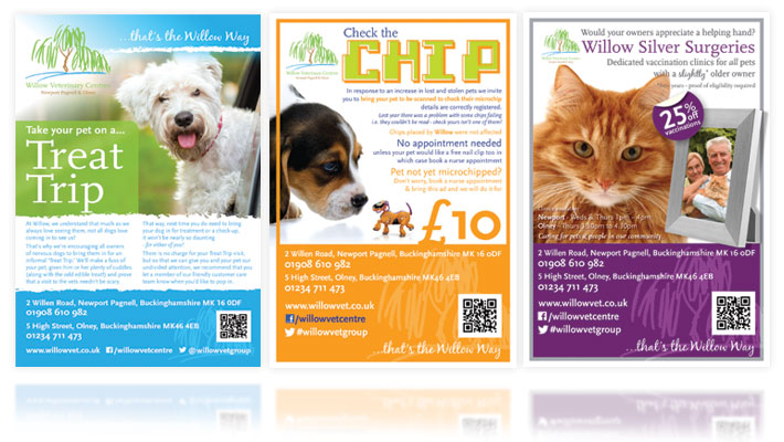 Willow Vets Print Ads