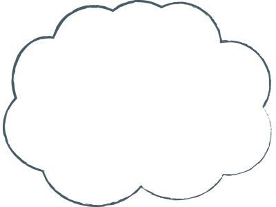 Large thought cloud
